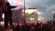 100.000 полски националисти в сблъсък с полицията