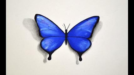 Как да нарисуваме пеперуда с пастели