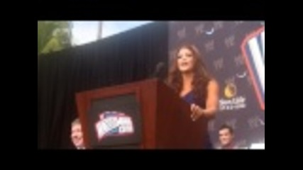 Eve Torres at the Wrestlemania 28 press conference in Miami