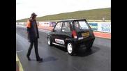 Renault 5 gt turbo drag 10.56@145.2