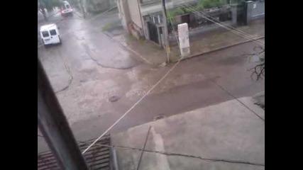Проливният дъжд, изсипал се над Карнобат на 09.05