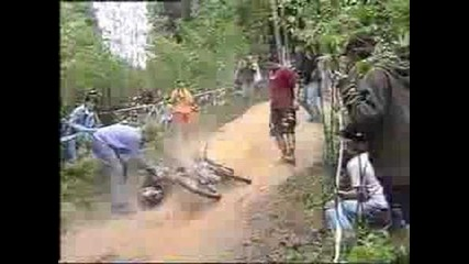 Horrible Downhill Crash - Bike