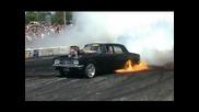 Summernats 23 - Ucsmoke Qualifying Burnout Fire