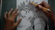 How to draw Natsu