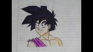 how to draw gohan