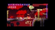 Terraria - All 4 Bosses, Blood Moon, Battle Potion