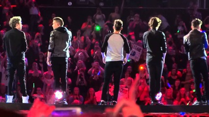 One Direction- Twitter Questions, Last First Kiss, & Moments- London- April 5, 2013