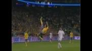 Sweden 4 Vs 2 England Zlatan Ibrahimovic Unbelievable Bicycle Goal But incroyable Hd