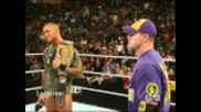 Wwe Raw: Randy Orton and John Cena Confront Each Other for the ppv Braggin Rights 11.1.10