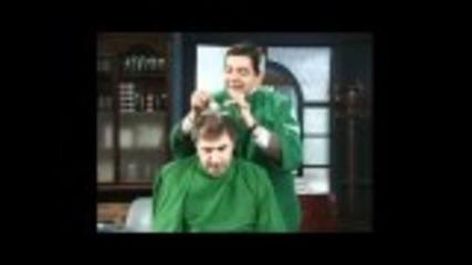 Mr Bean - Cutting men's hair