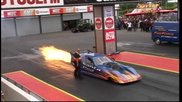 Santa Pod Fire Force 3, 2011,the Fastest Jet Car In The World 268 Miles Per Hour.