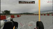 Bmw E34 550i V8 onboard (live for speed)