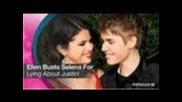 Ellen Degeneres Busts Selena Gomez For Lying About Justin Bieber!