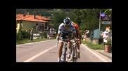 Tour 2011 Alberto Contador y Samuel bajando a tope