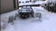 Traxxas summit at snow
