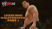 Wwe 2k14 30 Years of Wrestlemania Walkthrough Hulkamania Runs Wild Part 1: Andre The Giant vs Big J