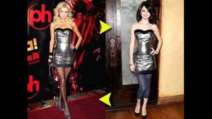Селена Гомез копира !! -тук коментирайте...как мислите тя копира от тях или те от нея ?