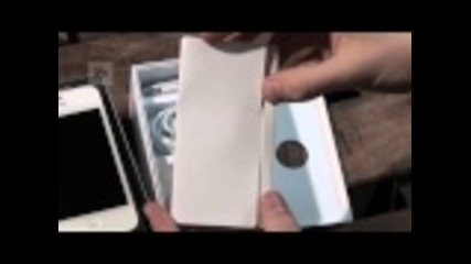 White Apple iphone4 Unboxing
