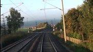 От кабината на немски влак