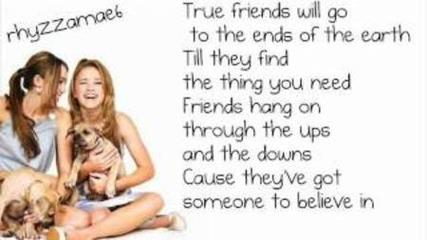 Miley Cyrus - True Friend (lyrics)