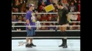 Wwe Raw: Wade Confronts John Cena (cena Might be Rehired) 12.6.10