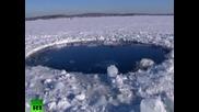 Дупка в леда от метеор в русиa
