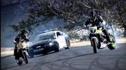 Мустанг патрулка преследва 2-ма призрачни ездачи!!!hd