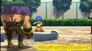 Hd 3d Metal Fight Beyblade Zero-g Battle: Eight & Orojya vs Yoshio & Goreim