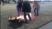 Фоерверките преди нова година подпалиха терена