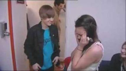 Justin Bieber backstage