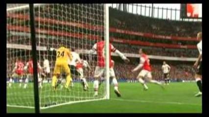 Първият гол на Бербатов срещу Арсенал