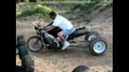 Hayabusa dirt drag bike prototype