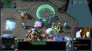 Starcraft2- Pvp Спаски срещу Мастер протос ранк 45
