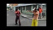 Смешен бой между пияници в Мексико