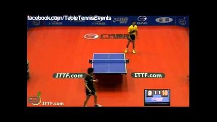 Wang Liqin vs Kenji Matsudaira [japan open 2013]