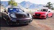 2014 Audi Rs7 vs 2014 Porsche Panamera Turbo! - Head 2 Hea
