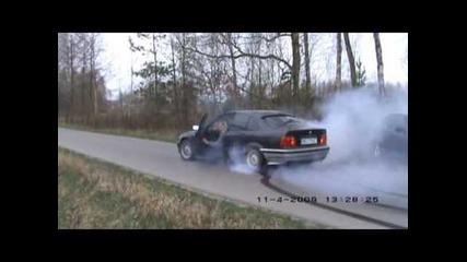 Bmw 318 e36 Burnout