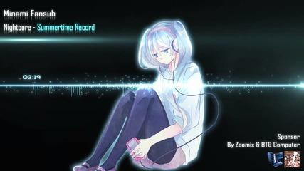 Nightcore - Summertime Record