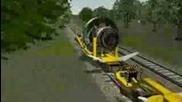 Extreme rocket train crash, 1200km/h