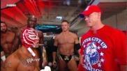 Рей мистерио след спечелването на титлата на федерацията бакстейдж