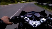 Honda Cbr125r and Hm Cre Six 70cc Cornering (rev Limiter at the end)