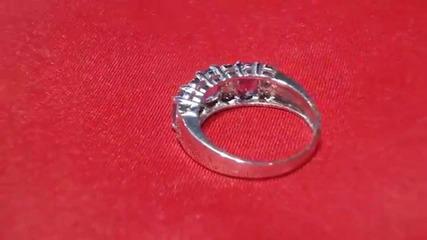 модерен пръстен с аметисти и диаманти Kirkorian Diamonds