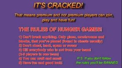 Minecraft 1.3.2 Cracked Hunger Games Server!