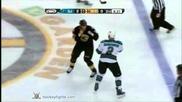 Boston Bruins Fights 2011-2012 season part 1