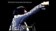 Elvis Presley On Tour Burning Love in Greensboro April 1972