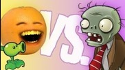 Annoying Orange vs Plant vs Zombies