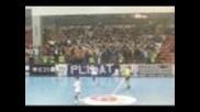 Феновете на Khf Prishtina срещу Hc Kuban Krasnodar