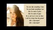 Demi Lovato - Skyscraper Karaoke/instrumental