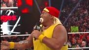 Wwe Raw 4/9/12 Kane chokeslam The Three Stooges