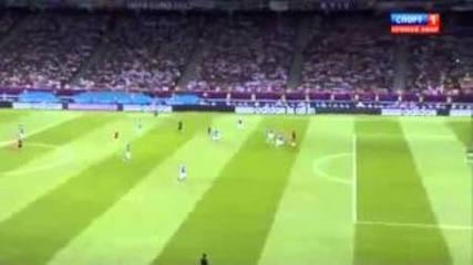 Испания 4-0 Италия - Всички голове!